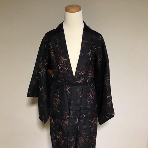 Vintage HAORI MEISEN Silk Black × paturn