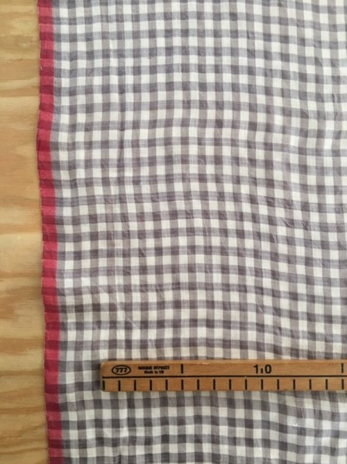 Khadi silk × cotton ベージュ×ホワイトチェック