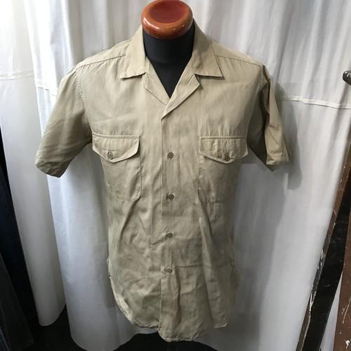 ~60's vintage CREIGHTON U.S.N UNIFORM アメリカ海軍 マチ付き開襟シャツ メンズM
