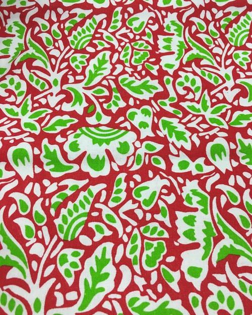 インド綿 赤 ワンピース
