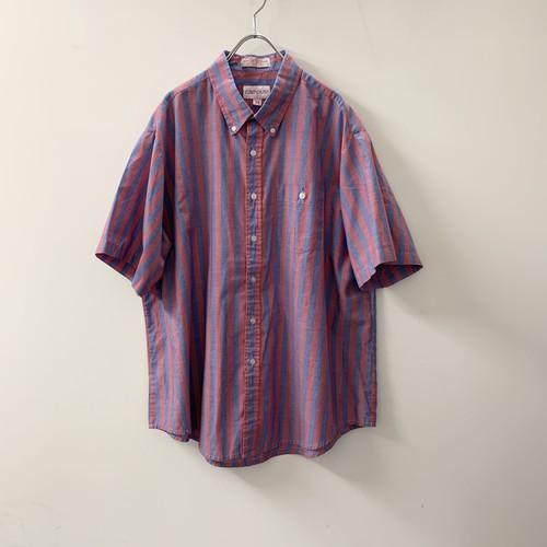campus ストライプシャツ レッド/ブルー size 2X メンズ 古着