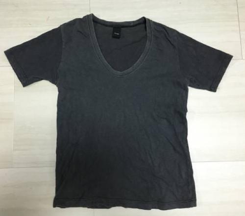美品 pledge プレッジ 無地 Vネック Tシャツ 半袖 サイズ48
