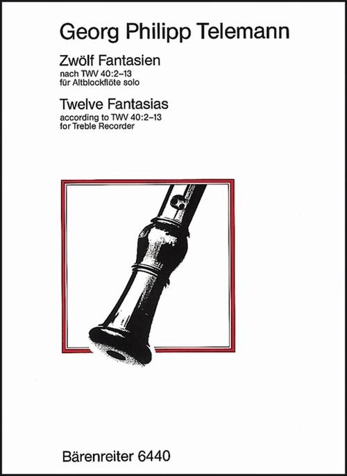 テレマン:TWV40:2-13による12の幻想曲/リコーダー