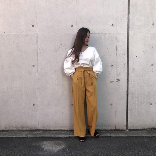 La SRIC/ウエストリボンストレートパンツ