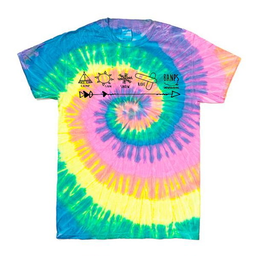 SHORT SLEEVE Tshirt TieDye MK (1.Neon/Black) bp-45