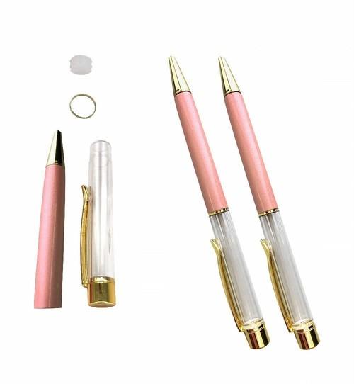 AseiwaA ハーバリウム ボールペン 手作りキット 本体のみ ペン 同色 3本セット (サーモンピンク) B07KM2S5LT