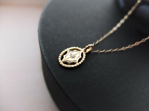 augurio K10YG ダイヤモンド ネックレス