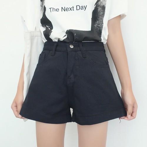 【ボトムス】韓国風シンプルファッションデニムショートパンツ