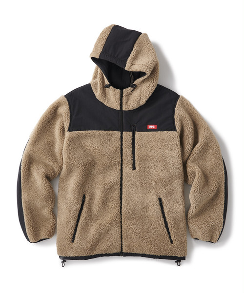 FTC / HOODED SHERPA FLEECE JACKET -BEIGE-