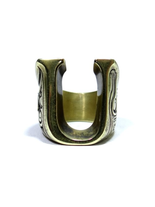 alphabet ring#U (Brass ・ 真鍮) -アルファベットモチーフ リングU-