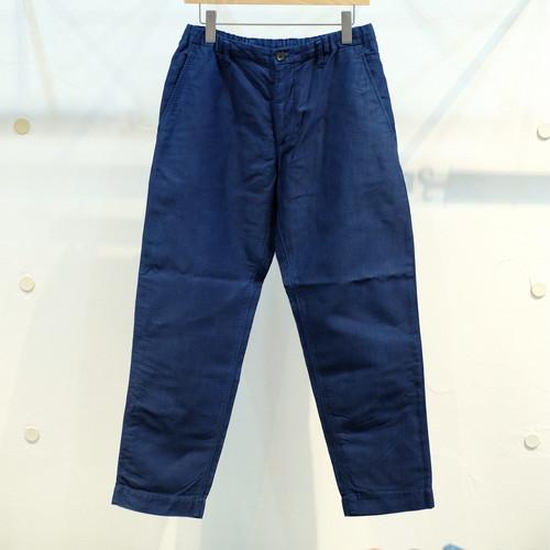 KUON(クオン) 奄美大島藍染ヘリンボーンコットン イージーパンツ