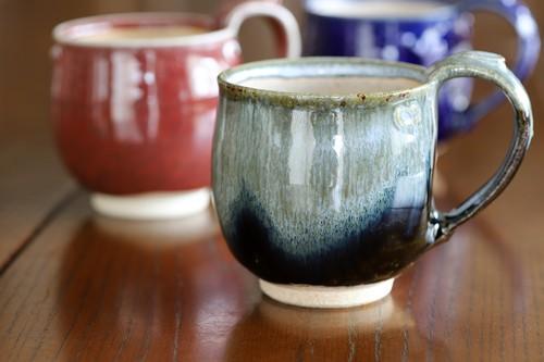 紫香楽灰釉流し マグカップ 作:谷井芳山・谷寛窯(信楽焼)