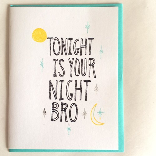 Tonight Bro Card