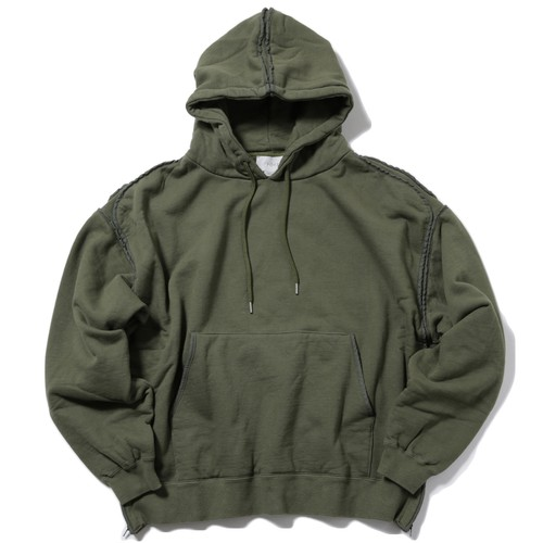 YOKE PIPING WIDE PARKA(OLIVE)