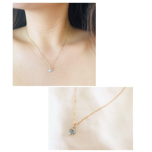 14kgf skytopaz necklace