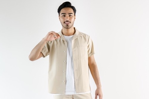 ThreeArrows  Resort S/S shirt(beige)