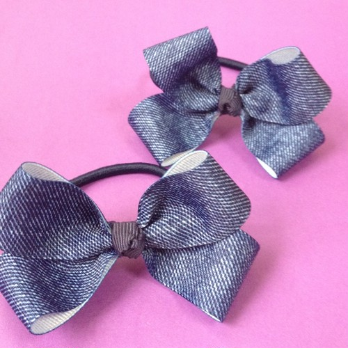 Challot denim bow for kids