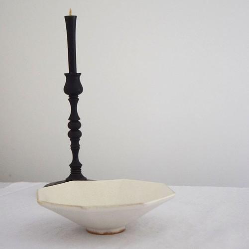 瀬川辰馬 Tatsuma Segawa チタン白オクトゴナル鉢