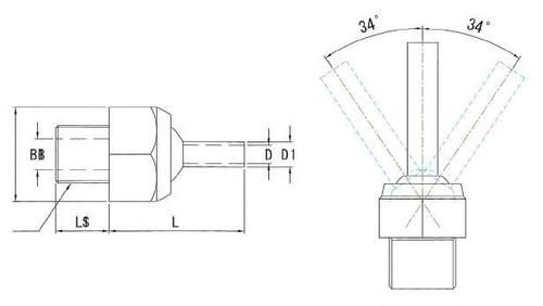JTSP-1/8-20 高圧専用ノズル