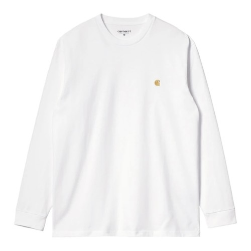 【Carhartt WIP】 L/S CHASE T-SHIRT - White / Gold