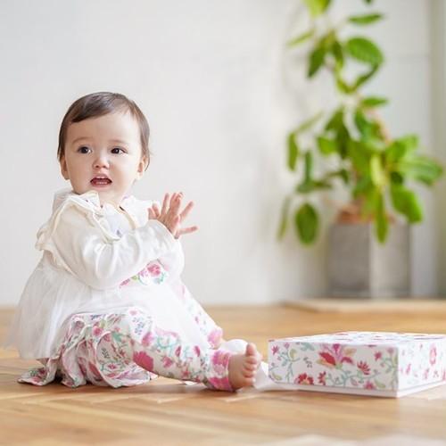 Haruulala(ハルウララ) カンタービレ 出産祝い2点セットギフトボックス (スタイ・ロングパンツ)  オーガニックコットン使用