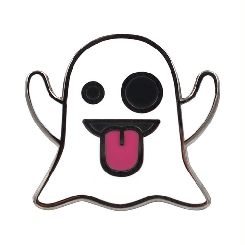 "Real Sic""Ghost Emoji Pin – Enamel Pin for your Life"""