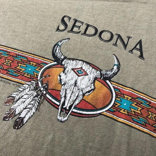 90's アンビル anvil SEDONAプリント セドナ ネイティブアメリカン Tシャツ 90s Lサイズ