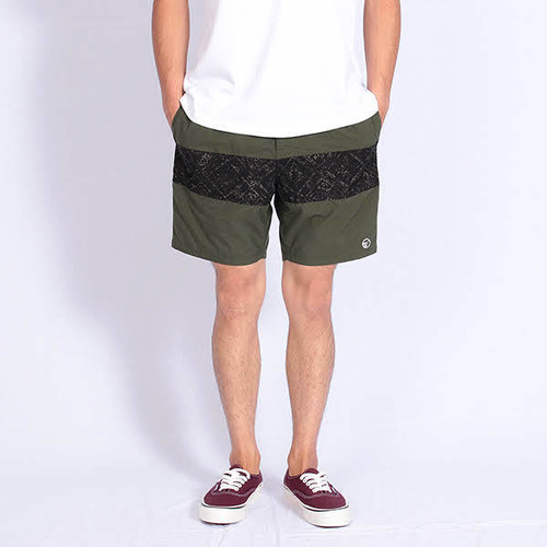 Short pants every day CENTER LINE BATIK Kahki/Gray
