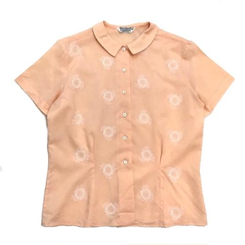【USED】60s Vintage 刺繍 半袖 ブラウス シャツ