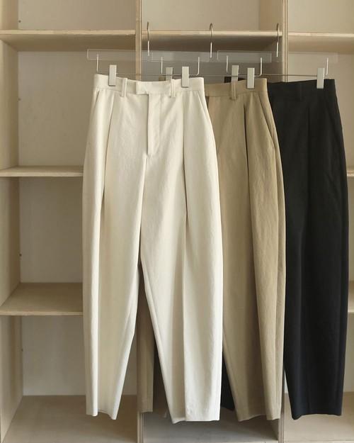 Cotton Boxtuck Pants