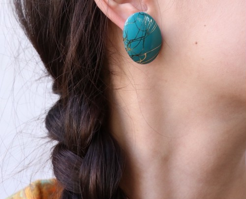 dead stock turquoise color earrings