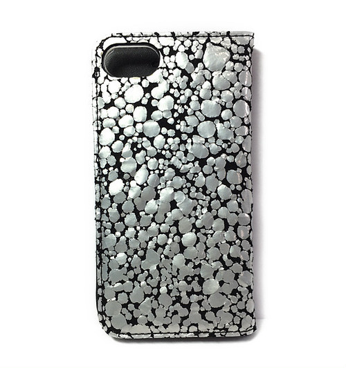 iPhone7 BookType [Water Drop] SIlver×Black