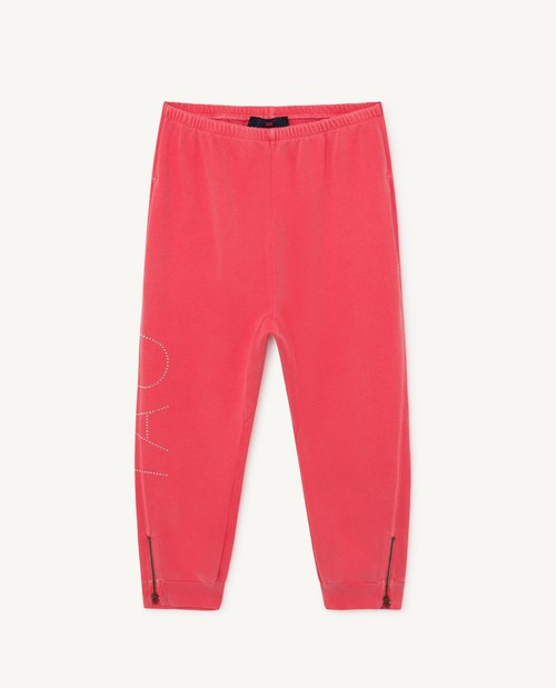 the animals observatory PANTHER KIDS PANTS RED TAO