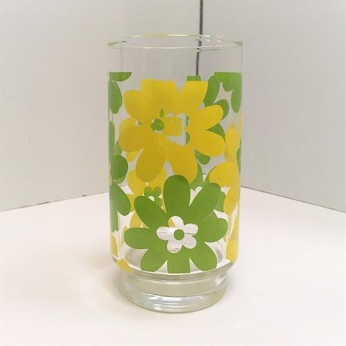 レトロなグラス【黄緑/黄色】