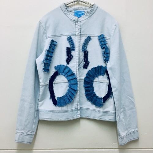 gather design denim jacket