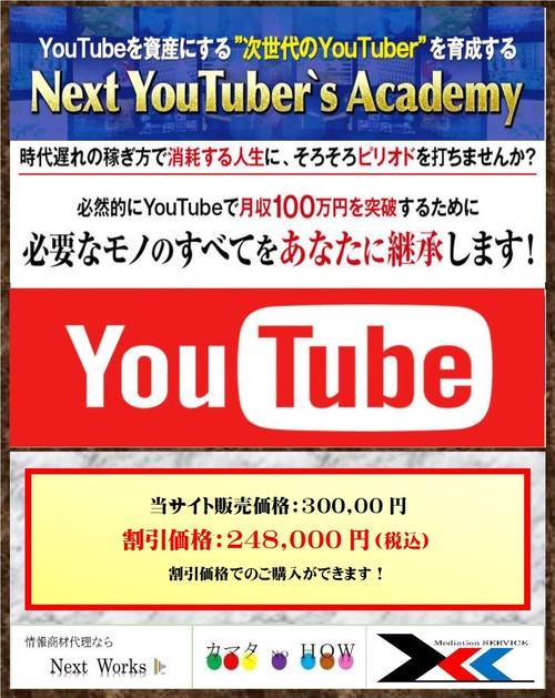 <<<完売致しました>>>Next Youtuber's Academy  育成タイプ