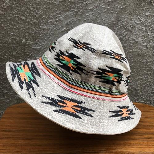 超レア! ネイティブ インディアン サンダーバード柄① デニム バケットハット DENIM BUCKET HAT 帽子 59-60cm