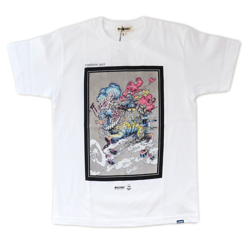 ROPH X MAGICNUMBER freeform jazz T-shirts WHITE