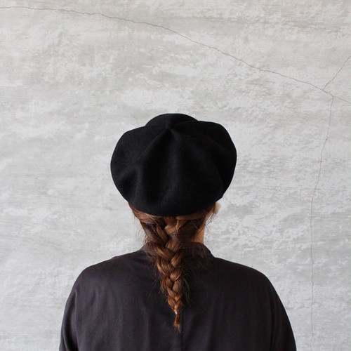mature ha. beret top gather big black(マチュアーハ ベレー トップギャザー ビッグ ブラック)送料無料