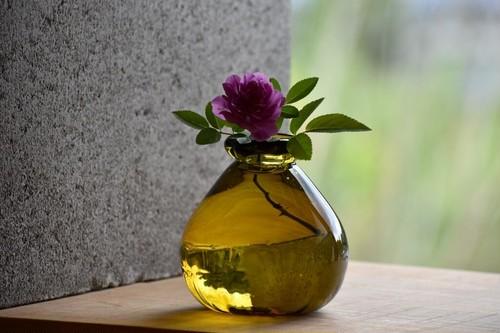 【丸花器 緑茶】