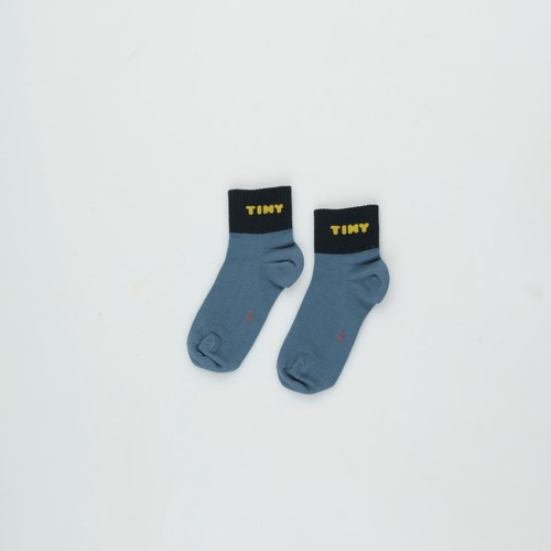 《TINYCOTTONS 2020AW》TINY QUARTER SOCKS / sea blue × navy / 2・4Y