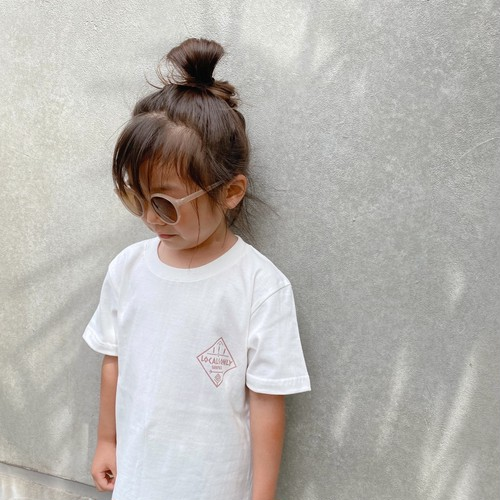 ★Kids★ LOCALS ONLY Tee - Vanilla white / Baked pink