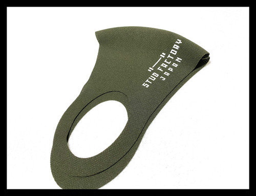 barbell logo dry fit mask(ARMY GREEN)