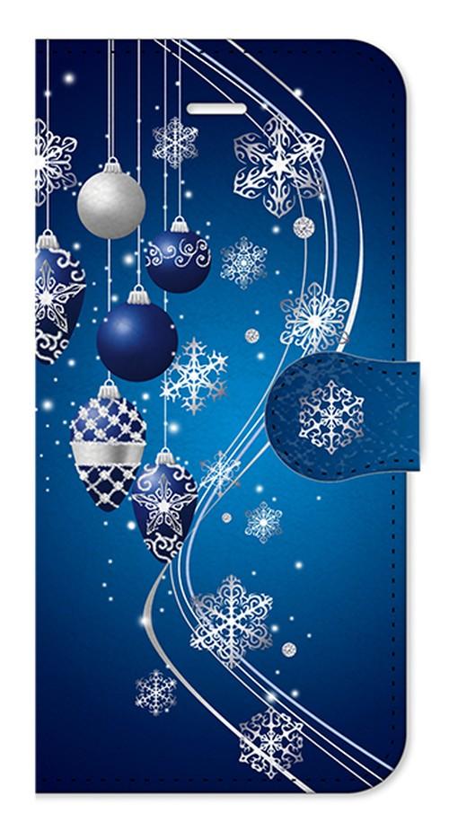 【iPhone6/6s】Winter Holiday Royal Blue ウィンター・ホリデー ロイヤルブルー 手帳型スマホケース
