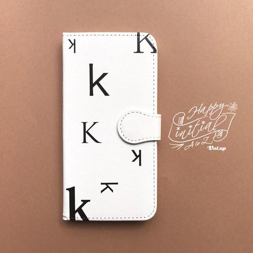 ハッピーイニシャル K iPhoneケース 白