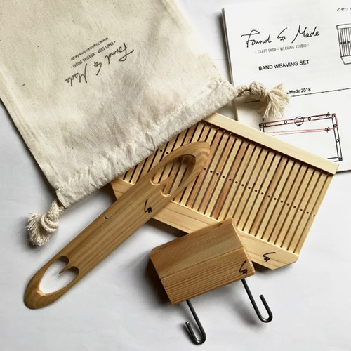 <Found & Made>  Band Weaving Kit / バンド織りキット(説明書付き)