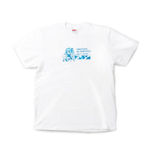 雪ミク×ファイターズ2021 Tシャツ 白/SD