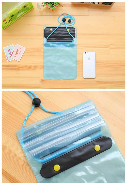 ビーチグッズ 防水ポーチ PVC素材 3重チャック アウトドア 海水浴 プール 海 釣り 携帯 防水バッグ スマホ 防水ケース