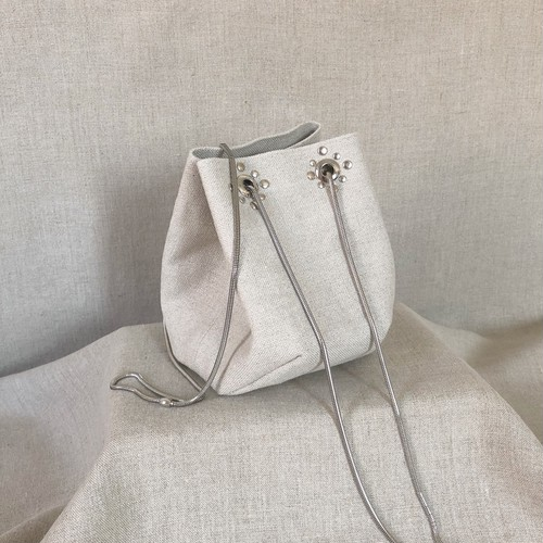 【NEW】Studs Chain Bag《Linen》