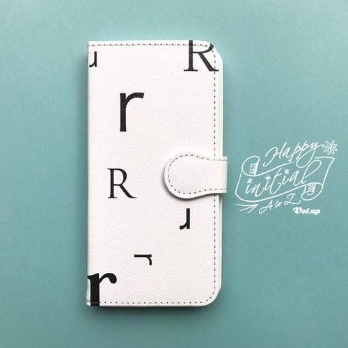 ハッピーイニシャル R iPhoneケース 白